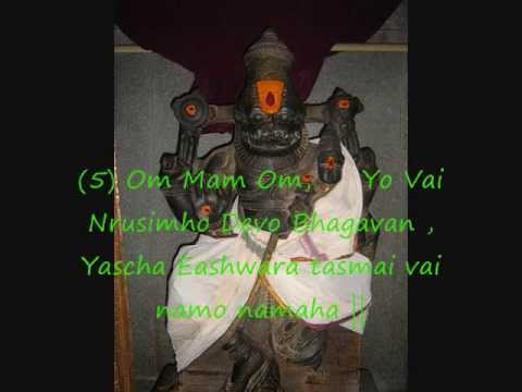32 Aksharams of Sri Narasimha Anushtup Mantram (Mantra Rajam)