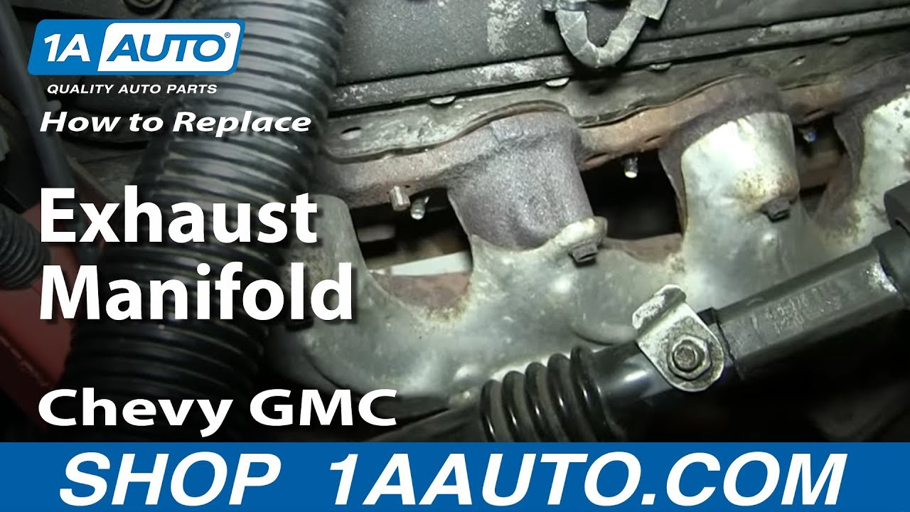 how to replace exhaust manifold bolts studs 1999 2007 chevy gmc silverado sierra suburban 5 3l 6 0l youtube [ 1920 x 1080 Pixel ]