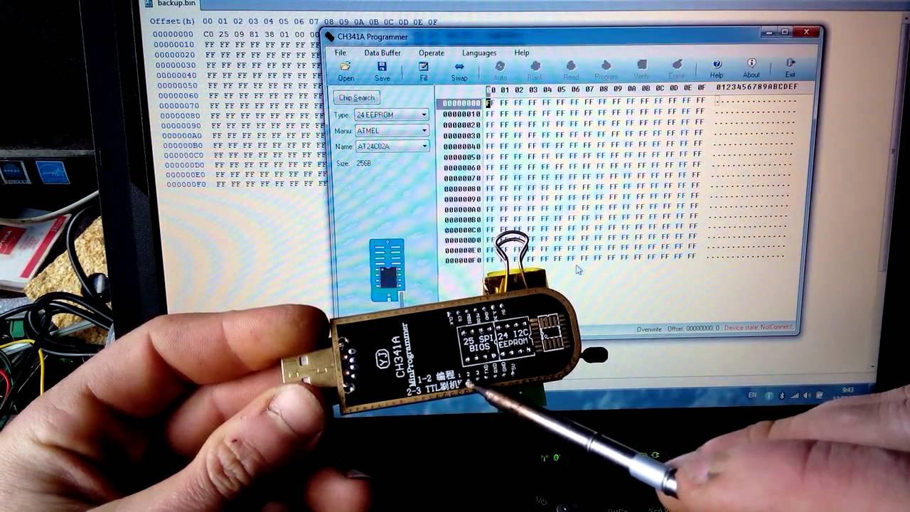 USB программатор на CH341a (как пользоваться )