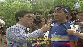 Lễ trao giải cuộc đua xe đạp về cội nguồn năm 1995   BLV Quang Huy