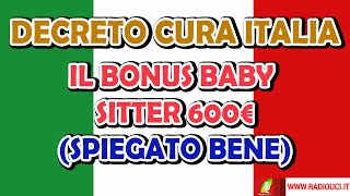 DECRETO CURA ITALIA: BONUS BABY-SITTER (spiegato bene)