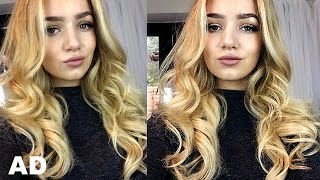 GRWM: Perfect Blow Dry Curls Party Look With Mark Hill Hair AD