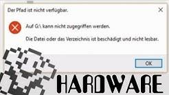 Die Datei oder das Verzeichnis ist beschädigt oder nicht lesbar - HDD / SSD [4K / 60 fps]