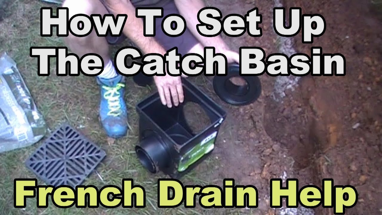 How To Set Up Your Catch Basin For Yard Drainage Youtube