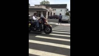 Bikers funeral Elizabeth nj. Usa 2015