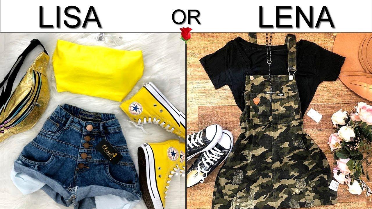 LISA OR LENA 🌹 Outfits - YouTube