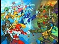 Power Rangers vs TMNT part 2 cartoon for kids - Colorful game