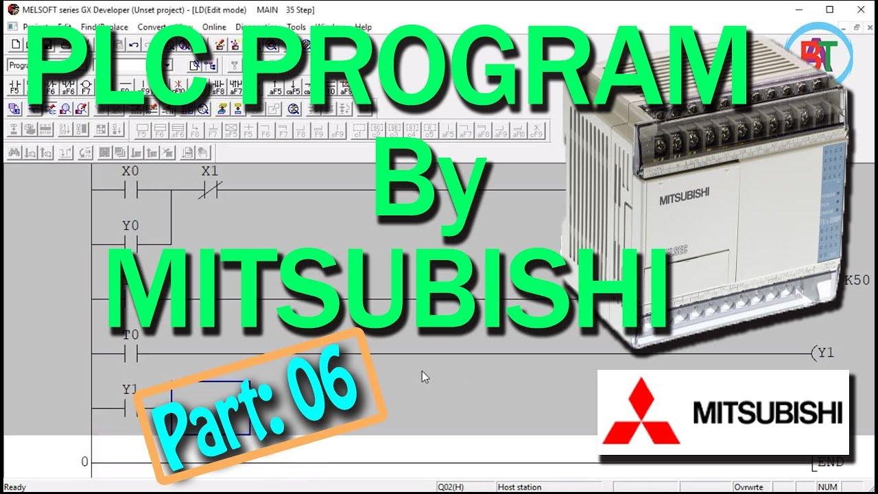 Star Delta Starter PLC program By Mitsubishi PLC GX Developer PLC Program  বাংলা টিউটোরিয়াল