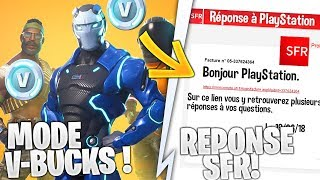 2 NEW COMPETITIVE MODE (v-bucks) AND SFR RESPONSE ON THE FORTnite PS4