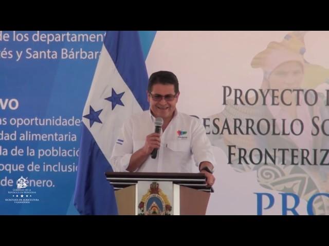 Presidente Juan Orlando Hernández Socializa Inicio de Proyecto PRO LENCA