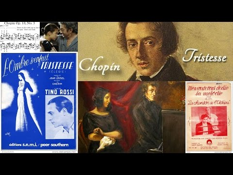 CHOPIN - Opus 10.3 - Etude Chanson de l'adieu (Tristesse)  - Piano Mélodie Facile