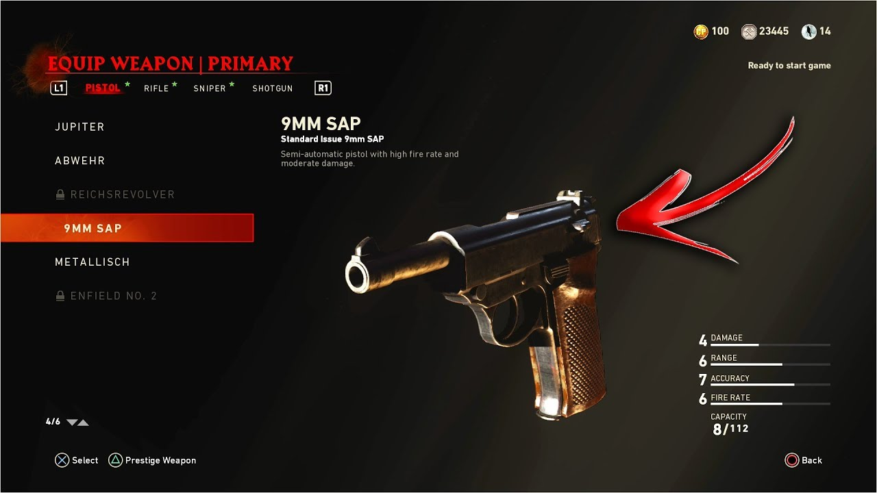 How To: 9MM SAP As Your Starting Weapon! - WW2 ZOMBIES DLC Weapon As  Zombies Starting Weapon