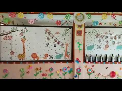 dekorasi ruang kelas tk - youtube