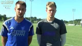 2015 JMU Men's Soccer Preseason - Bjarki Aðalsteinsson and Kyle Morton - 8/25/15