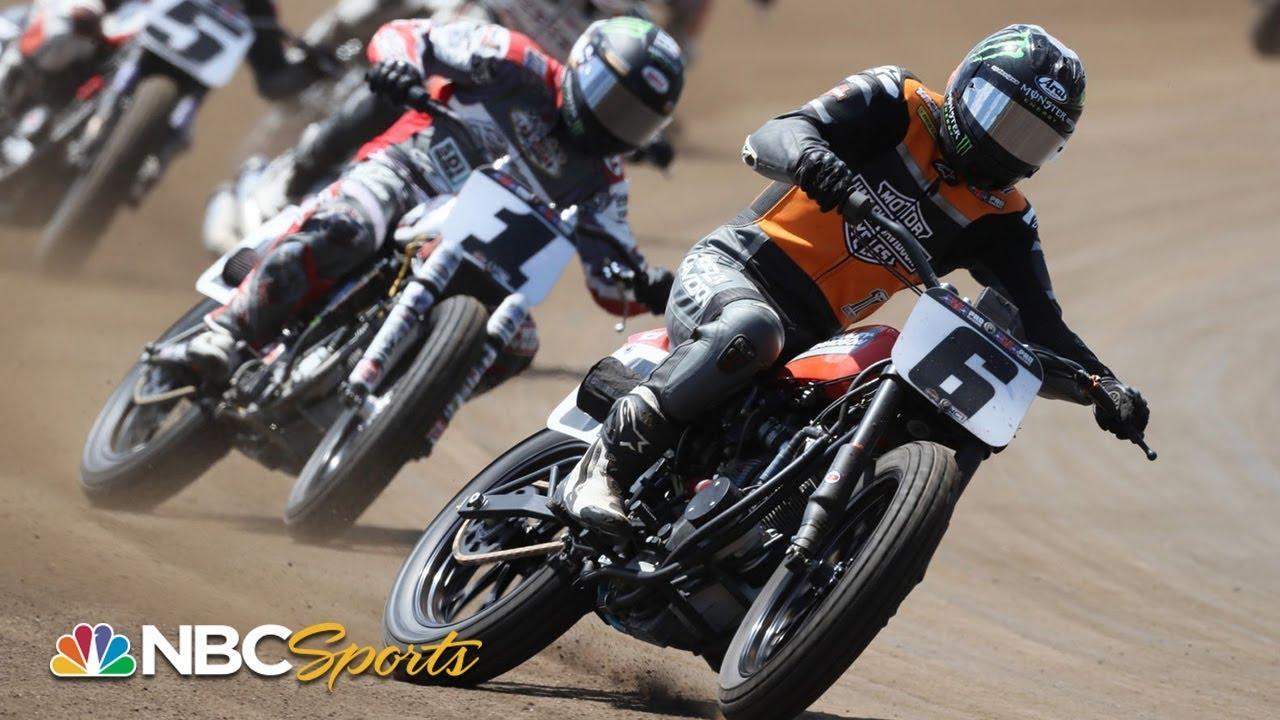 American Flat Track 2019: Yamaha Atlanta Short Track   EXTENDED HIGHLIGHTS   Motorsports on NBC