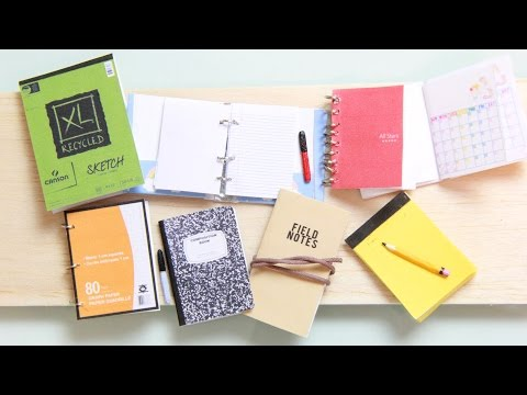 DIY Mini Notebooks - Spiral Notebook, Sketch Pad, Composition, Legal Pad, Pencils & Sharpie