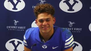 2018 BYU football: Lopini Katoa and Isaiah Kaufusi talk Cougars' 45-10 win over New Mexico State