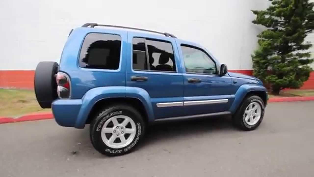 2005 jeep liberty limited atlantic blue pearlcoat 5w617934 redmond seattle