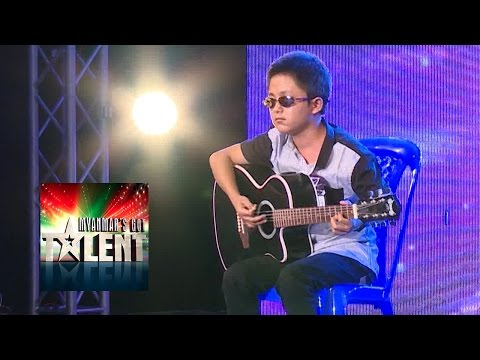 Amazing Blind Guitar Player Audition | Myanmar's Got Talent 2015 Season 2 Episode 3