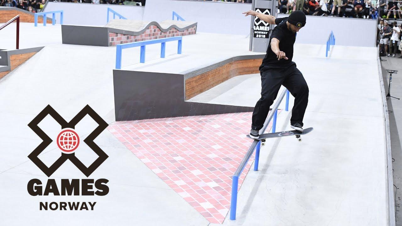 Men's Skateboard Street: FULL BROADCAST | X Games Norway 2018