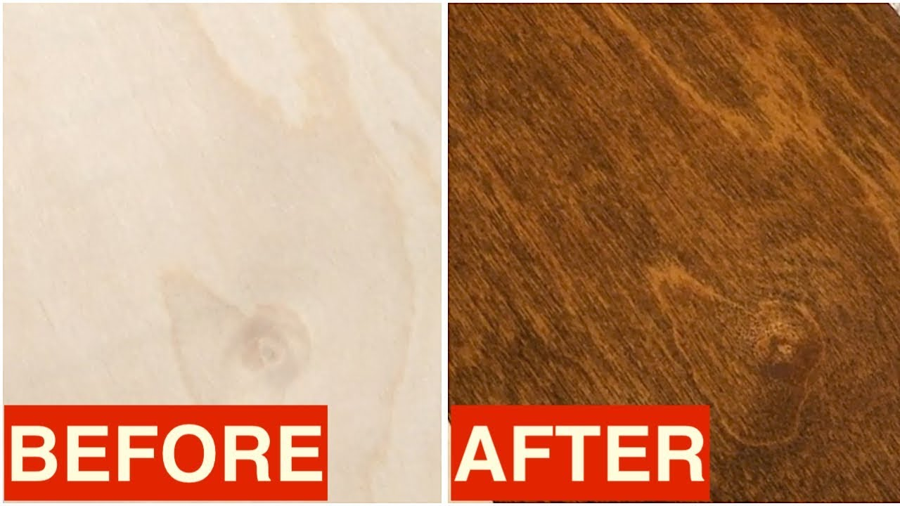How To Stain Birch