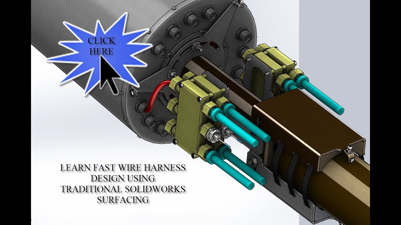 Wire Harness Design With Traditional Solidworks Surfacing And 3d