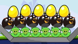 Angry Birds Bomber 2 - TAKE ALL GOLDEN EGG AFTER BLOW UP ALL PIGGIES!