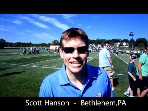 NFL Network's Scott Hanson at Eagles Training Camp, Bethlehem,PA - Cutting a promo on Mike Vick!