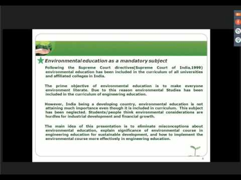 ICTIEE 2017 Paper Role of environmental education in engineering education trans