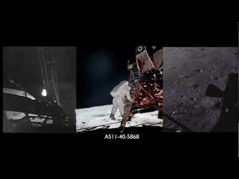 Apollo 11 Moonwalk Part 1 of 4