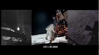 Apollo 11 Moonwalk Part 1 of 4