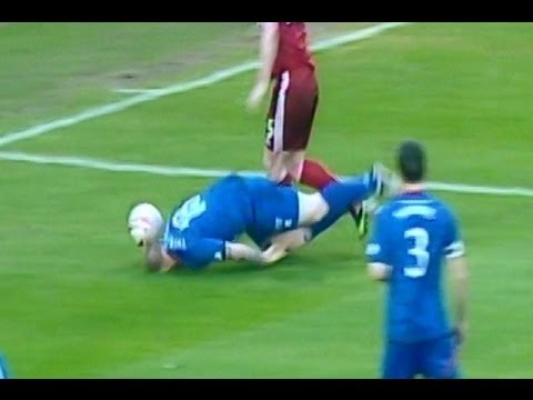Inverness Caledonian Thistle's Carl Tremarco showboating v Aberdeen