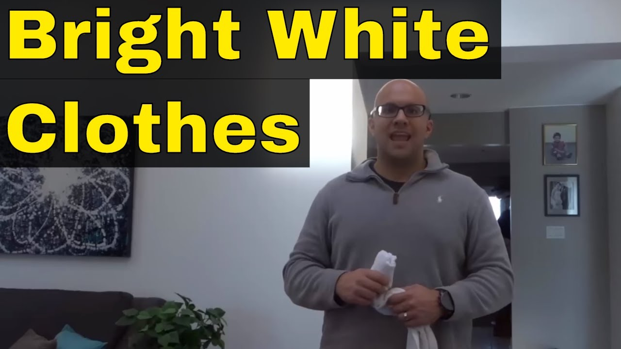How To Keep White Clothes White Without Bleach Youtube