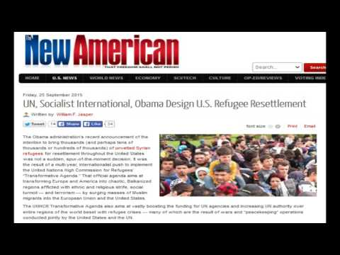 UN, Socialist International, Obama Design U.S. Refugee Resettlement