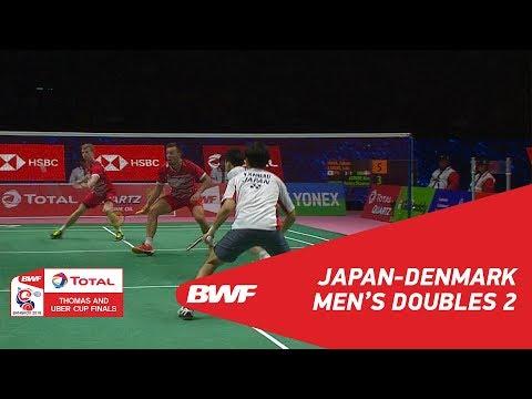 Thomas Cup | MD2 | INOUE/KANEKO (JPN) vs ATRUP/RASMUSSEN (DEN) | BWF 2018