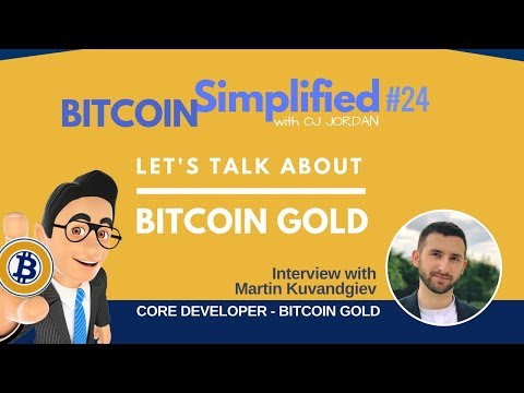 BITCOIN SIMPLIFIED #24 Interview with Bitcoin Gold Developer Martin Kuvandzhiev