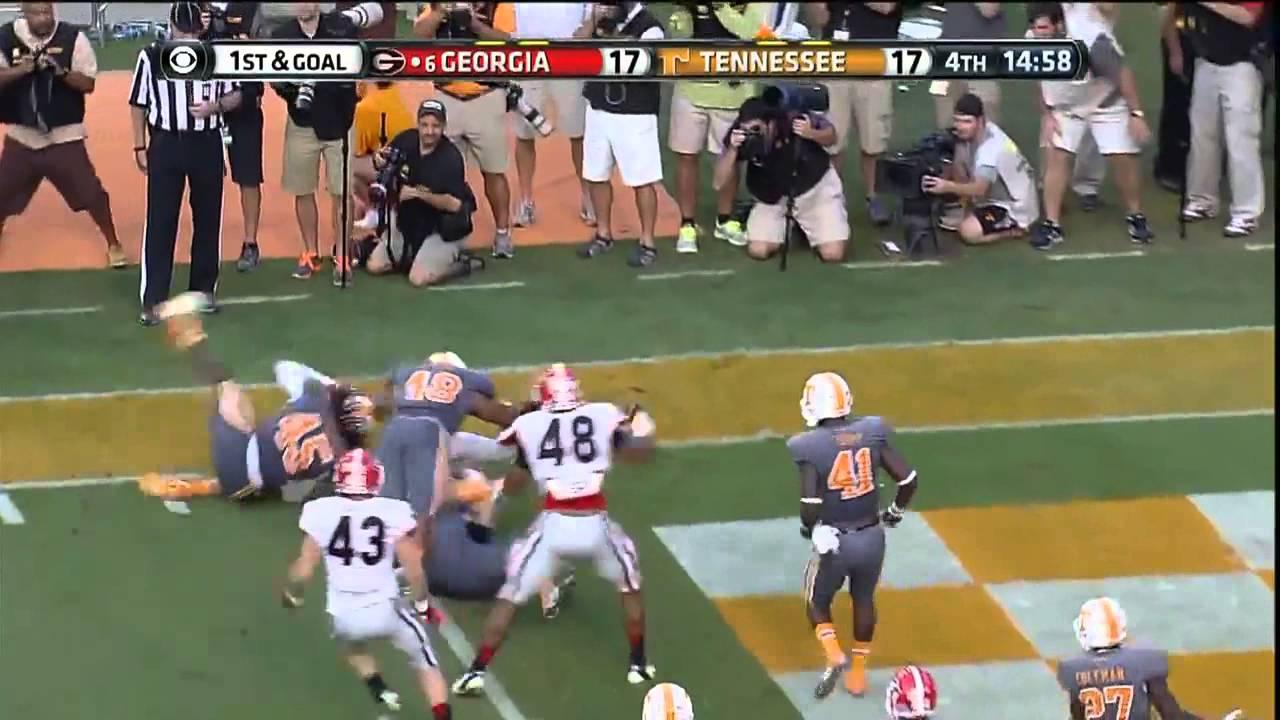 10/05/2013 Georgia vs Tennessee Football Highlights