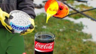 Experiment: Coca-Cola vs Mentos vs Lava