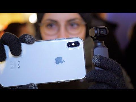 LOW LIGHT Test IMBARAZZANTE DJI Osmo Pocket Vs Apple IPhone XS Max