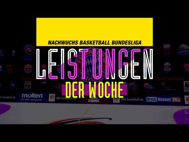 NBBL Leistungen der Woche - Spieltag 1