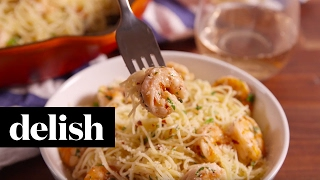 Garlic Butter Shrimp Pasta | Delish