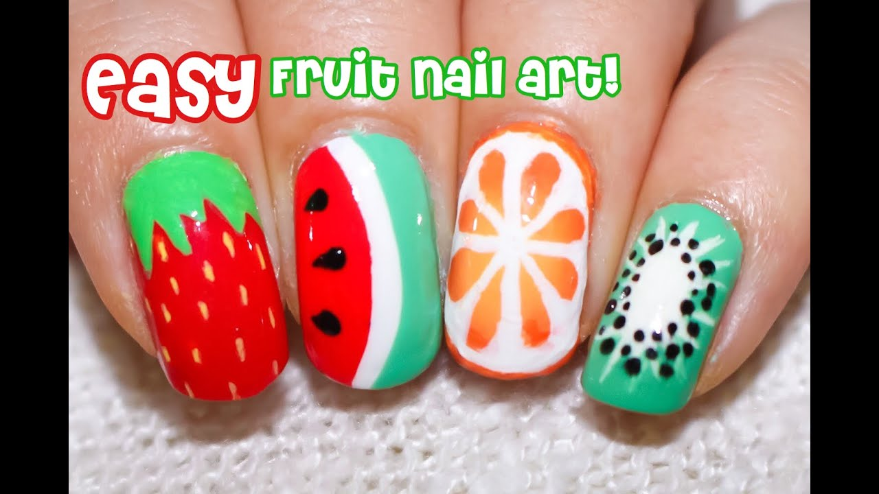 4 Easy Fruit Nail Art Designs! | Perfect for Summer - YouTube