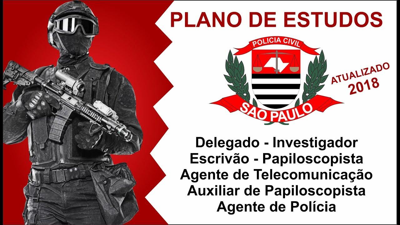 Plano De Estudos Concurso Policia Civil De Sao Paulo Pc Sp
