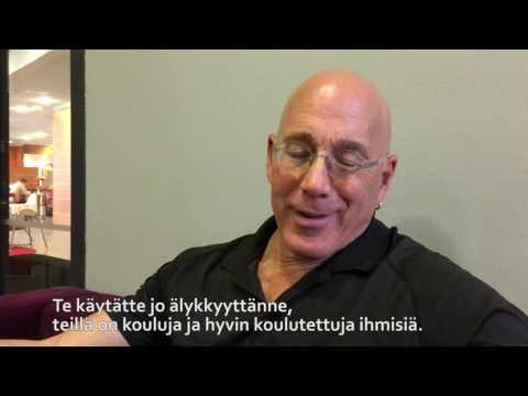 Bruce Oreck antaa suomalaisille neuvon