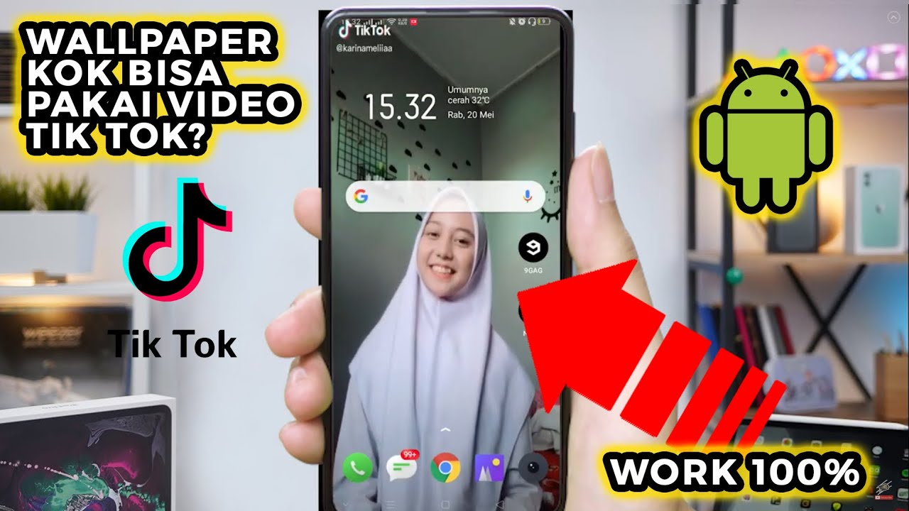 Cara Mudah Membuat Video Tiktok Menjadi Wallpaper Hp Android Youtube