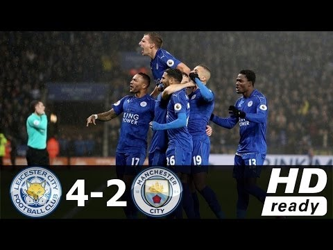 Leicester City 4 x 2 Manchester City - Gols & Destaques - EPL 10.12.2016 HD