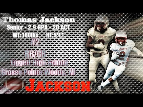 Thomas Jackson #2  WR/RB/CB Liggett high School