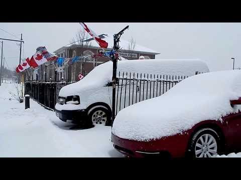 First Toronto Snow Storm Today -  GTA Greater Toronto Area Snow storm