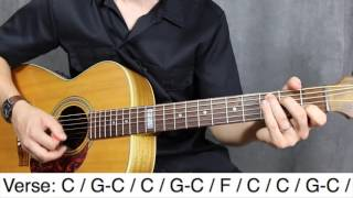 Download Down on the corner CCR Guitar lesson - Tutorial - How to play