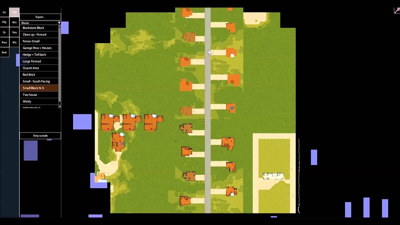 Project Zomboid Creative Mode Top Down Map